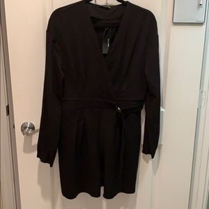 Zara black shorts jumpsuit